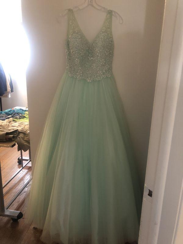 Prom Dress Mint Green