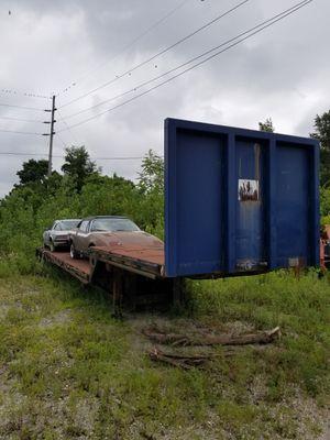 1979 Transcraft lowboy trailer, double drop steel bed, heavy duty for Sale in Columbus, OH