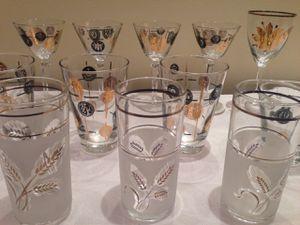 Mid-century modern cocktail glassware for Sale in Washington, DC