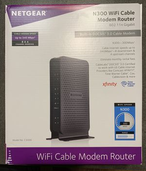 NETGEAR N300 WI-FI CABLE MODEM ROUTER for Sale in Cambridge, MA