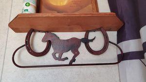 Brass/metal Horse towel rack for Sale in Monroe, LA