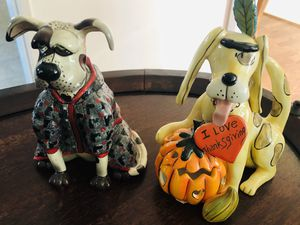 Ceramic glass dogs, Home decor for Sale in Cypress, CA