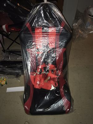 2 Red and black racing seats along with 4 point Tanaka racing harness for Sale for sale  Bronx, NY