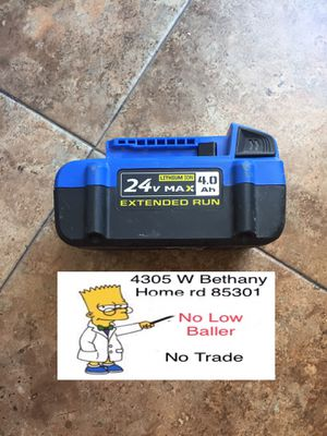 Used Kobalt Battery 4.0ah fully charged and works fine. for Sale in Glendale, AZ