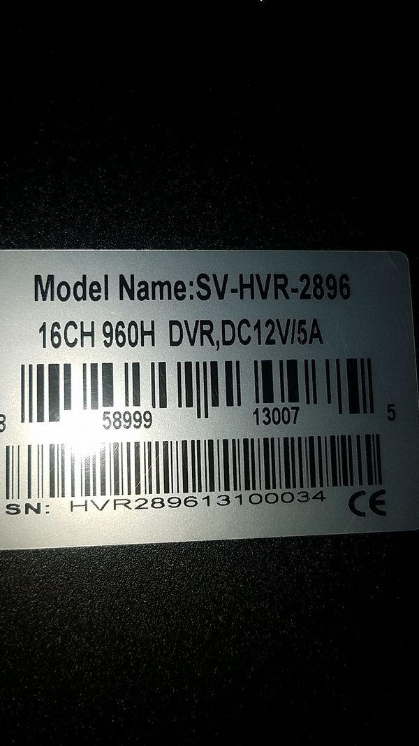 16 ch dvr HD with 4 cameras 2.8 fix lens
