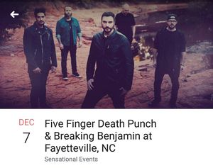 Five finger Death Punch & Breaking Benjamin for Sale in Durham, NC