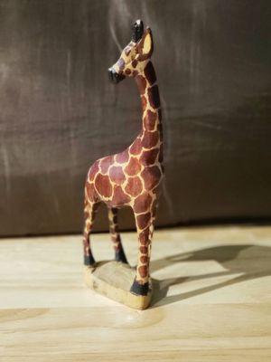 "Hand Carved Wooden Giraffe statue 12"" African Safari Decor. Made In Kenya for Sale in Phoenix, AZ"