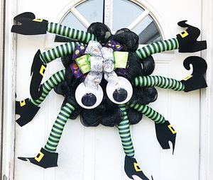 Deco Mesh Spider Wreath for Sale in Inwood, WV