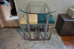 Stunning, Glass Dining Table for Two for Sale in Queens, NY