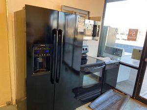 Black fridge range oven stove dishwasher kitchen appliance package on sale now for Sale in Littleton, CO