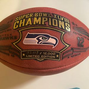 "Seahawks Super Bowl Limited Edition Commemorative Football From Wilson - ""The Duke"" for Sale in Seattle, WA"