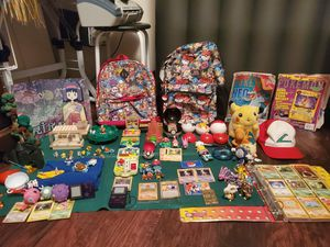 The ultimate Pokemon toys, accessories, and antiques.100 figurez/Plush/ 2backpacks .mini 4 villages BK specials for Sale in Tampa, FL