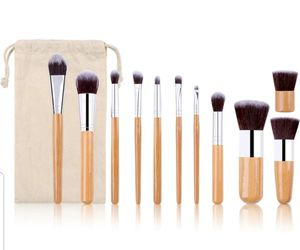 11 pcs kabuki wooden handle makeup brush set for Sale in Los Angeles, CA
