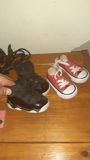 Jordan's & converse's still brand new my son only wore them a couple of times for Sale in Camden, NJ