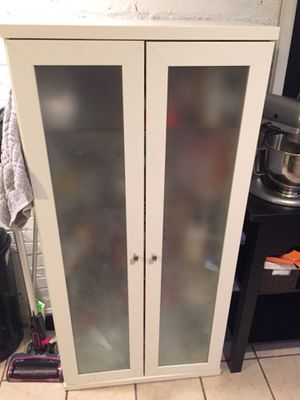 IKEA glass-door cabinet with shelving for Sale in Washington, DC