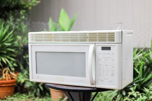 GE - LED White Over-the-Range Microwave for Sale in Austin, TX