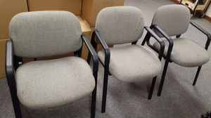 3 Matching Sturdy Grey Chairs for Sale in Seattle, WA