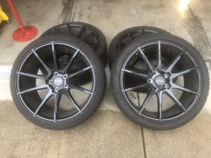 """20"""" black rims and tires for Sale in Redmond, WA"""