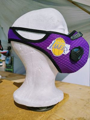 Lakers Purple Double Breathing Valve Mask for Sale in Las Vegas, NV