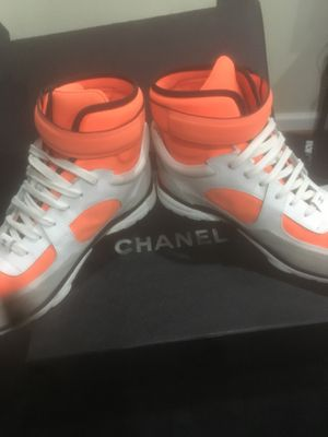Size 8 (Used) Chanel Sneakers worn once for Sale in Gaithersburg, MD