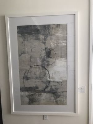 "Large wall art with white frame 62.7""x42.7"" for Sale in New York, NY"