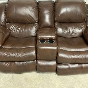 Leather Reclining Loveseat And Chair for Sale in Tacoma, WA