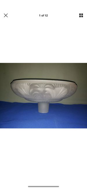 Art Deco Torchiere Floor Lamp Frosted Shade for Sale in Highland Charter Township, MI