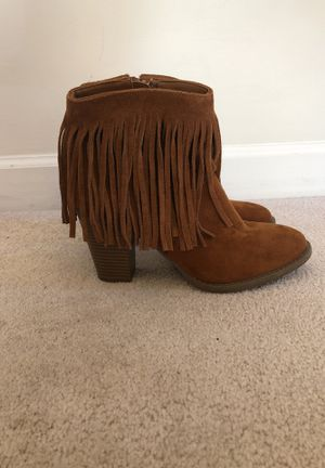 Size 9 fringe booties for Sale in North Myrtle Beach, SC