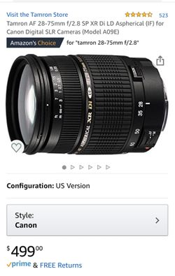Tamron 28-75mm F/2.8 Macro for Canon for Sale in Orlando,  FL
