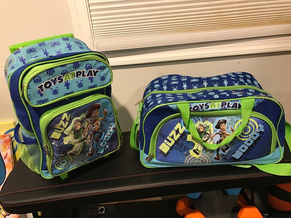 Toy story duffel and backpack