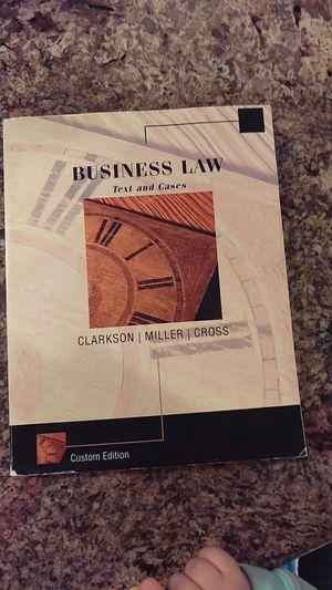 Business Law by Clarkson Miler Cross custom edition for Sale in Sacramento, CA