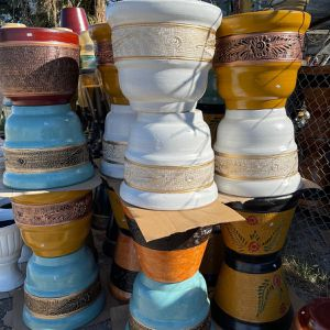 Clay Planters (large, Medium And Small Sizes) PRICE VARY for Sale in Anaheim, CA