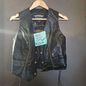 BLACK MOTORCYCLE VEST - MEDIUM for Sale in Riverside, CA