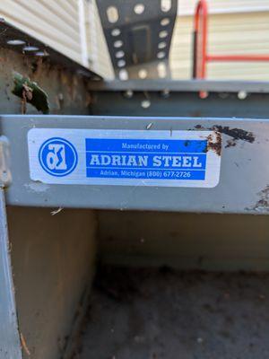 Adrian steel metal cargo van shelving for Sale in Powhatan, VA