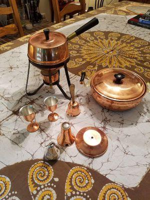 Coppercraft Guild Copper Fondue Pot w/ Misc. Pieces for Sale in Stafford, VA