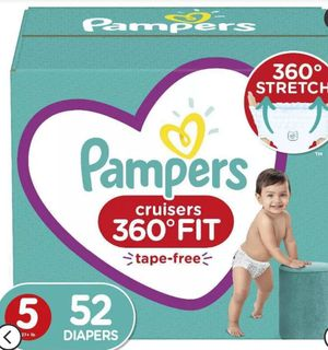 Pampers cruisers size 5 360 fit 52 count for Sale in Melrose Park, IL