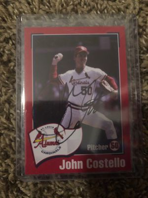 John Costello Autographed Baseball Card for Sale in Wildwood, MO
