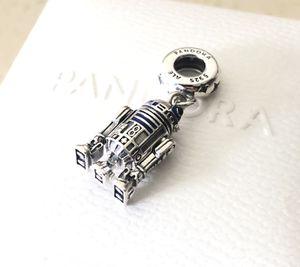 Pandora Disney's Star Wars R2-D2, CZ, Enamel, Dangle Charm #799248C01 +Box +Tag for Sale in Fontana, CA