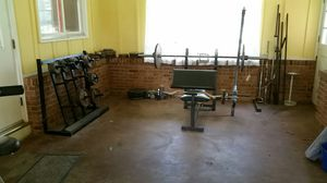 Weight bench with weights for Sale in Villa Ridge, MO