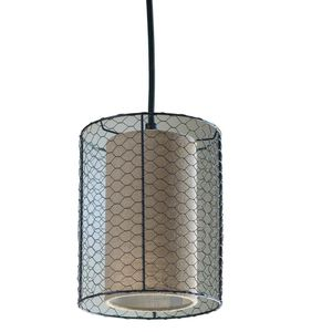 Decor Therapy Cooper Chicken Wire Burlap 1-Light Bronze Pendant Light for Sale in Queen Creek, AZ