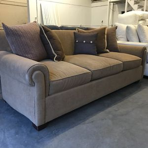 Brown Sofa (missing Back Cushions) for Sale in Brier, WA