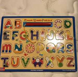 ABC Puzzle with magnetic wand for Sale in Charlottesville, VA