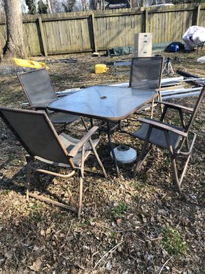 Metal outdoor chairs and table for Sale in Aldie, VA