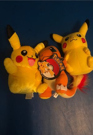 Three Pokémon stuffed animals for Sale in Lakewood, CA