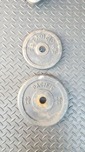 "5 and 10 lb standard 1"" weight plates for Sale in San Jose, CA"