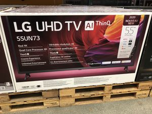 LG 55 inch 4K TV smart with Warranty for Sale in Altadena, CA