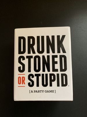 Drunk, Stoned or Stupid Card Game for Sale in Colorado Springs, CO