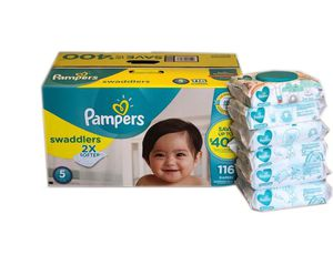 Pampers Swaddlers Diapers/Pampers Sensitive Wipes for Sale in Miramar, FL