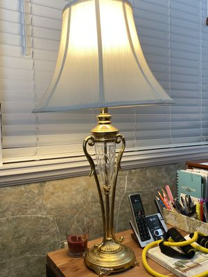 Brass and glass lamps for Sale in Fort Pierce, FL