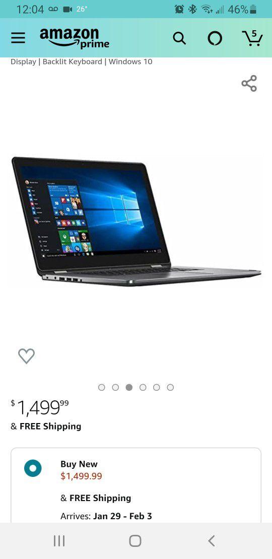 DELL Inspiron I7568 4K Ultra HD Convertible Laptop PC, Intel Core i7, 8GB RAM, 1TB Gaming